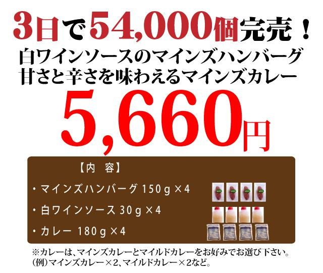 ハンバーグ通販マインズのハンバーグ&カレーセット-5660